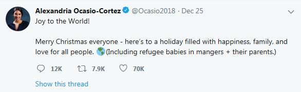 AOC Christmas Tweet